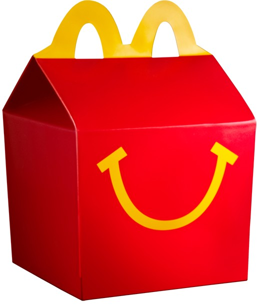 happy meal toy box